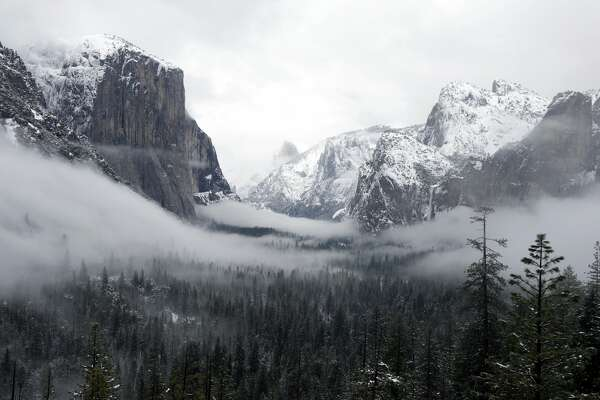 Yosemite Valley in Winter Fog from Tunnel View