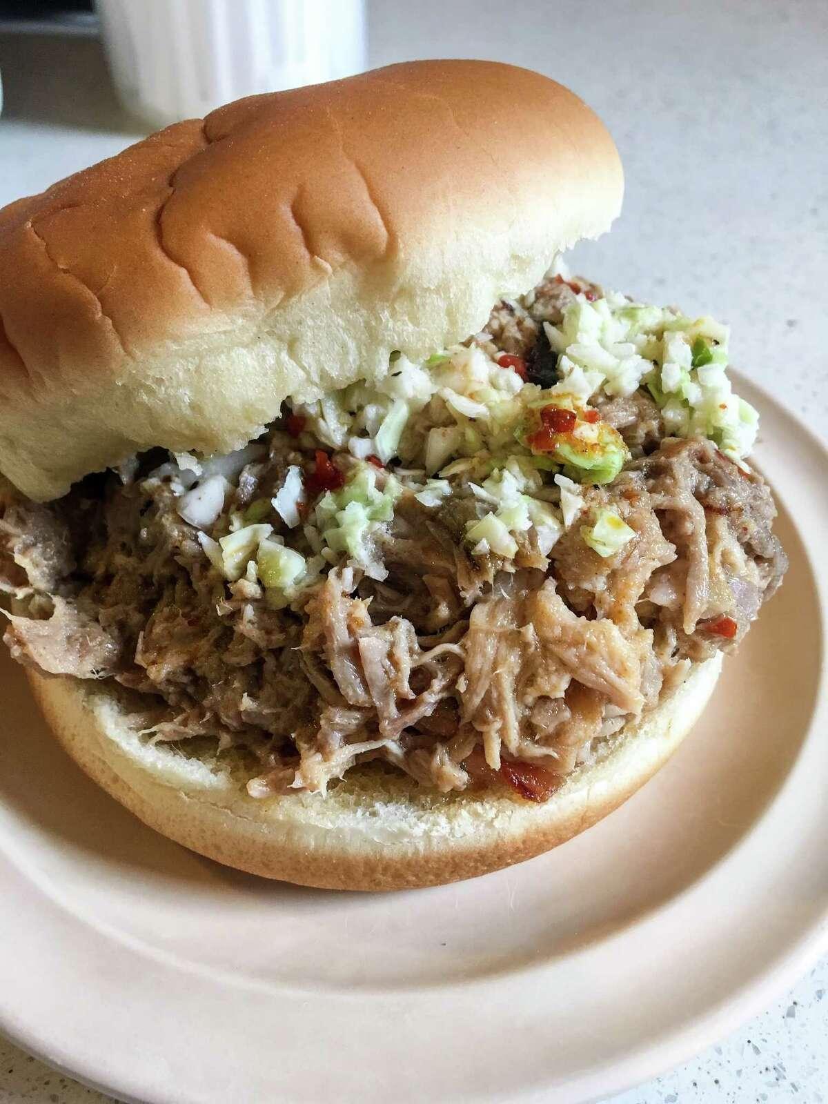 Chopped pork sandwich atAllen & Son Bar-B-Que, Pittsboro, N.C.