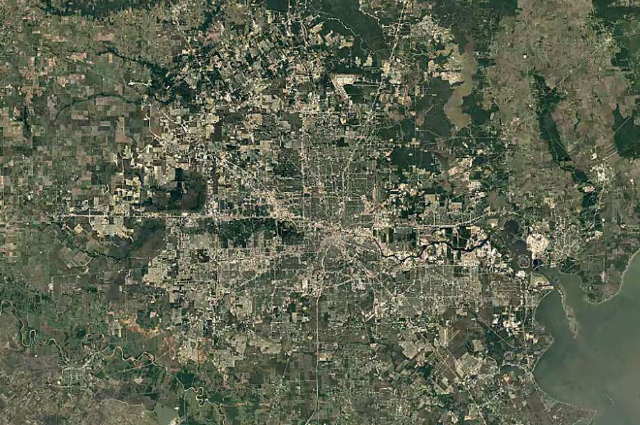 Houston - 1984 Photo: Google Earth Timelapse
