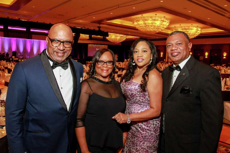 Gala chairs Thomas and K'Netha Jones, from left, and Joycelyn and Terry Williams Photo: Gary Fountain, For The Chronicle / Copyright 2016 Gary Fountain