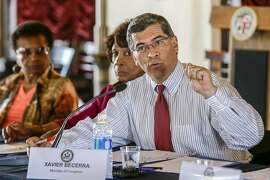 Congressman Xavier Becerra addresses a roundtable meeting to discuss ways to secure a vote in Congress to prevent gun violence on June 29, 2016 in Los Angeles. Becerra will be the state's next attorney general. (Irfan Khan/Los Angeles Times/TNS))