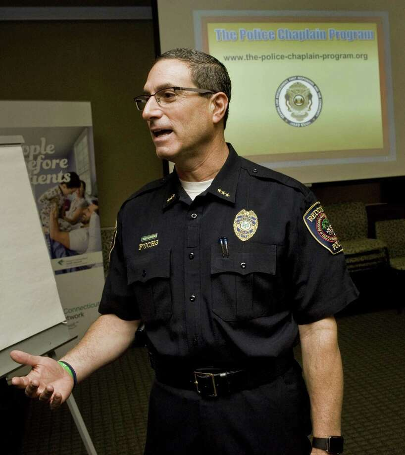 Redding Police Chief Doug Fuchs at the Regional Police Chaplain Training seminar in Danbury Hospital. Thursday, Dec. 1, 2016 Photo: Scott Mullin / For Hearst Connecticut Media / The News-Times Freelance