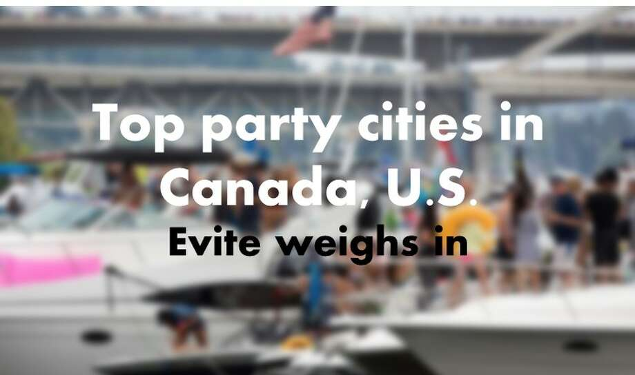 Event organizing website Evite listed the top party cities in the United States and Canada based on the registered events with the platform. Seattle ranks quite highly. Check out where we land. Photo: Seattlepi.com