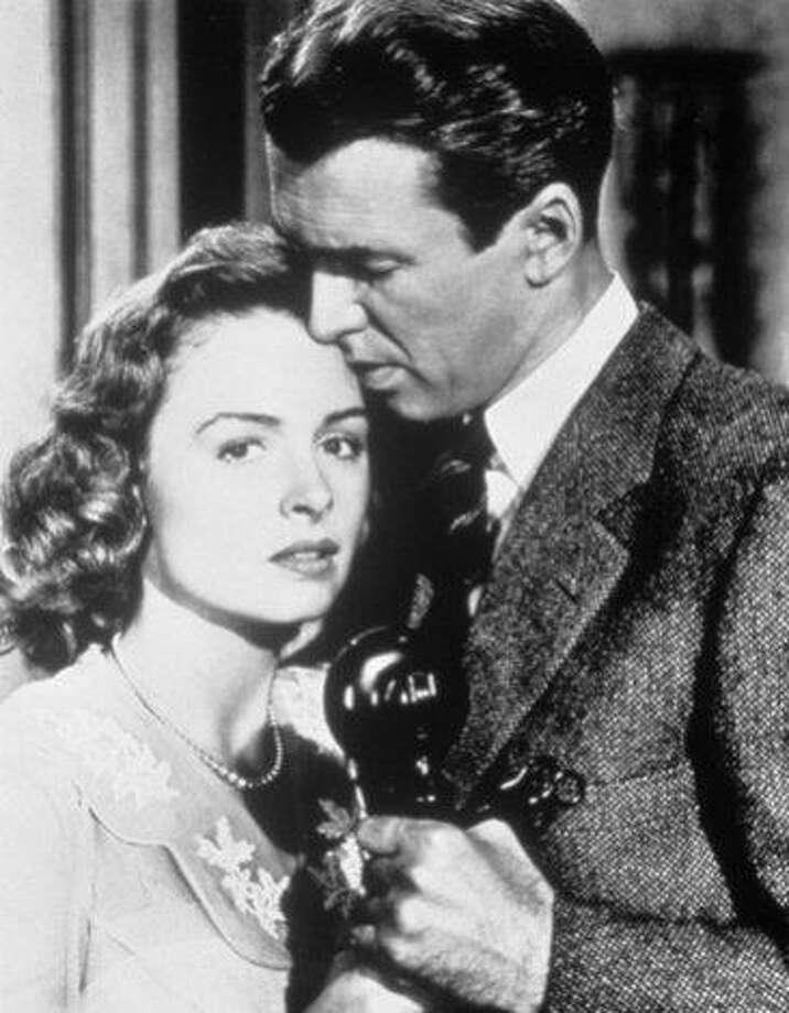"Jimmy Stewart and Donna Reed in ""It's a Wonderful Life.""  Photo: RKO Radio Pictures, TNS"