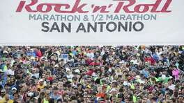 Thousands of runners lined up at the starting line for the Rock 'n' Roll San Antonio Marathon Sunday Dec. 6, 2015 at the Alamodome.
