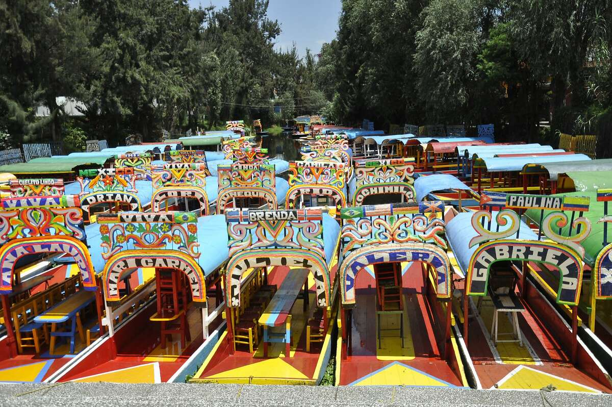 Mexico City - Xochimilco, known primarily for trajinera (boat) rides through canals that are remnants of the lake in which the Aztec capital was built. Christine Delsol / Special to The Chronicle ONE-TIME USE ONLY FOR TRAVEL STORY DECEMBER 2016. Contact photographer for reuse