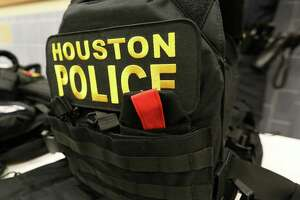 Houston Police DepartmentÕs Police Foundation has purchased bulletproof vests that will protect officers from high-velocity ammunition Friday, Dec. 2, 2016, in Houston. These external bulletproof vests could stop high-velocity ammunition, such as rifle bullets, while the internal bulletproof vests, which the police officers currently have, cannot.