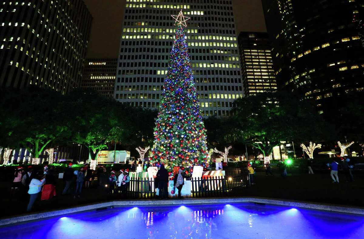 Hundreds of people come to participate the 97th Annual Mayor's Holiday Celebration and Tree Lighting Presented by Reliant at City Hall Friday, Dec. 2, 2016, in Houston. See more scenes from last year's holiday festivities.