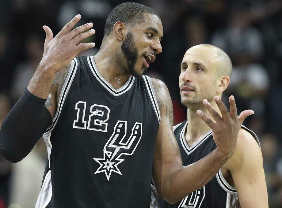 Manu Ginobili could be the next Spur to have his jersey retired. But LaMarcus Aldridge might be honored one day as well. Photo: Tom Reel /San Antonio Express-News / 2016 SAN ANTONIO EXPRESS-NEWS