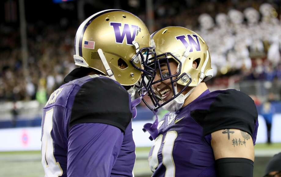 1. Huskies defensive backs won't take much of a step backUW returns a lot in the front seven, but the loss of Budda Baker, Sidney Jones and Kevin King in the secondary should mean the Huskies are vulnerable, right? Not so fast. Not only does Washington return contributors such as JoJo McIntosh (above, left) and 2017 Pac-12 defensive freshman of the year Taylor Rapp (above, right), but newcomers such as redshirt freshman Byron Murphy (penciled in as a starter) and true freshman Elijah Molden, Keith Taylor and Brandon McKinney will make this an uber-deep group. Photo: Robert Reiners/Getty Images