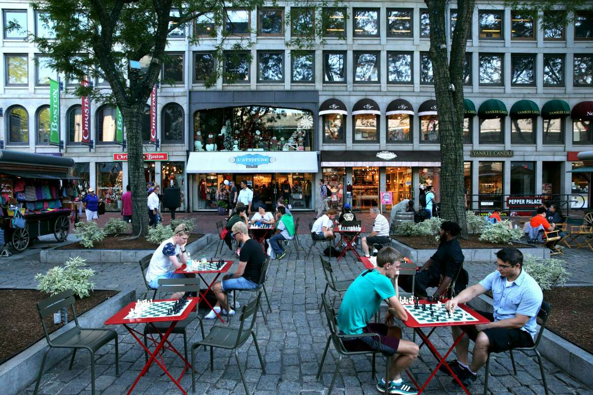 10. Quincy Market at Faneuil Hall in Boston.