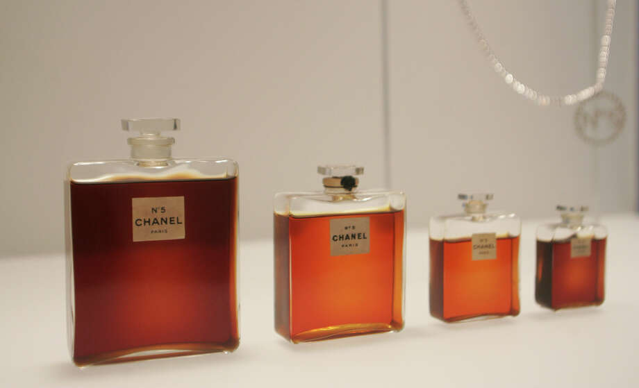 Bottles of Chanel No. 5 are displayed at the Metropolitan Museum of Art in New York in 2005.  Photo: HIROKO MASUIKE, STR / Copyright 2016 The Associated Press. All rights reserved.
