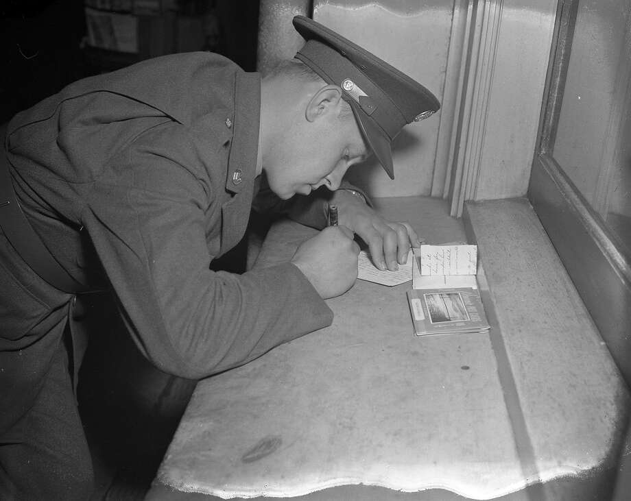 A serviceman after Pearl Harbor, in an uncredited Chronicle photo. Photo: Photographer Unknown, The Chronicle