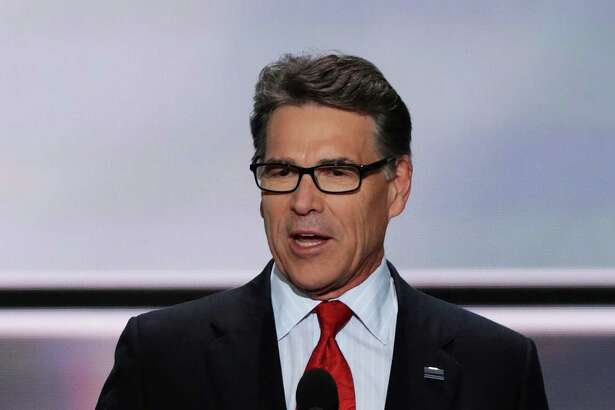 CLEVELAND, OH - JULY 18:  Former Texas Governor Rick Perry delivers a speech on the first day of the Republican National Convention on July 18, 2016 at the Quicken Loans Arena in Cleveland, Ohio. An estimated 50,000 people are expected in Cleveland, including hundreds of protesters and members of the media. The four-day Republican National Convention kicks off on July 18.  (Photo by Alex Wong/Getty Images)