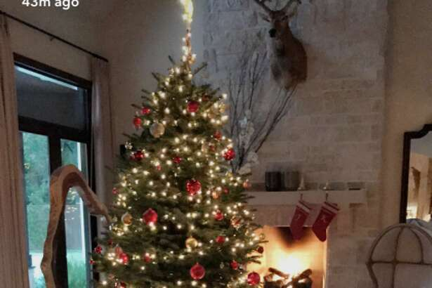 J.J. Watt recently shared a photo of his Christmas tree on SnapChat, but the photo may have revealed more that the football player intended.  Photo: J.J. Watt SnapChat