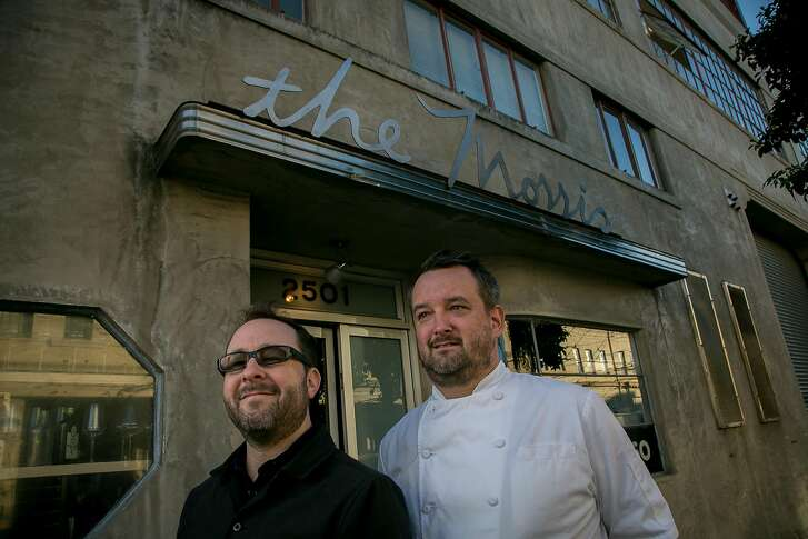 Owner Paul Einbund and chef Gavin Schmidt of the Morris in San Francisco, Calif. are seen on December 2nd, 2016.