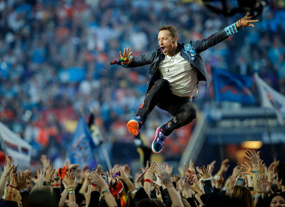 Coldplay performs during the Halftime Show at Super Bowl 50 between the Carolina Panthers and the Denver Broncos at Levi's Stadium on Sunday, Feb. 7, 2016 in Santa Clara, Calif. Photo: Michael Macor, The Chronicle