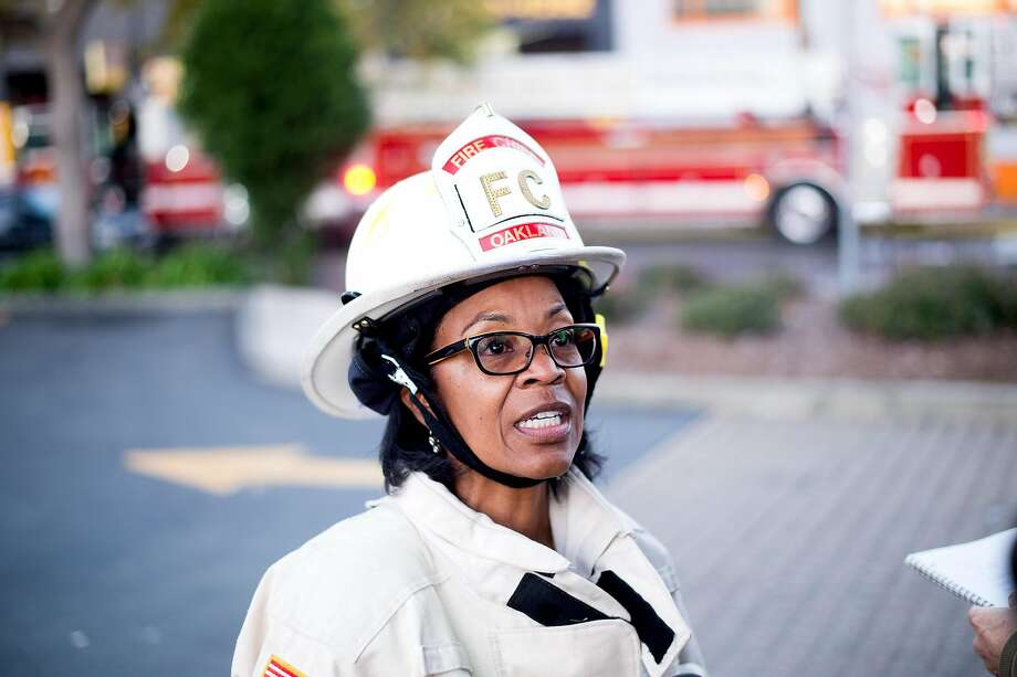 Oakland Fire Chief Teresa Deloach Reed discusses the warehouse fire. Photo: Noah Berger, Special To The Chronicle
