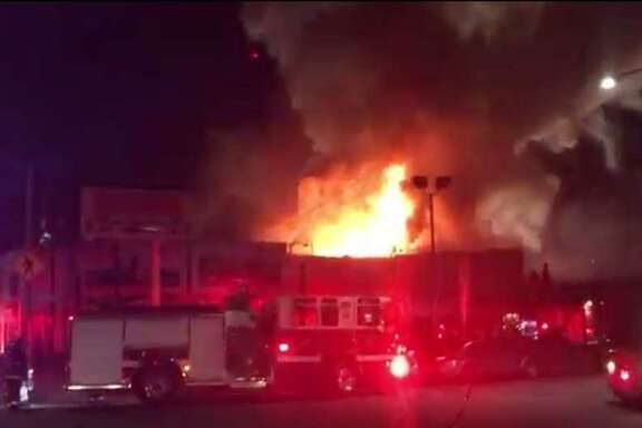 Firefighters in Oakland this morning are investigating a three-alarm structure fire that occurred Friday night and reportedly involved casualties.
