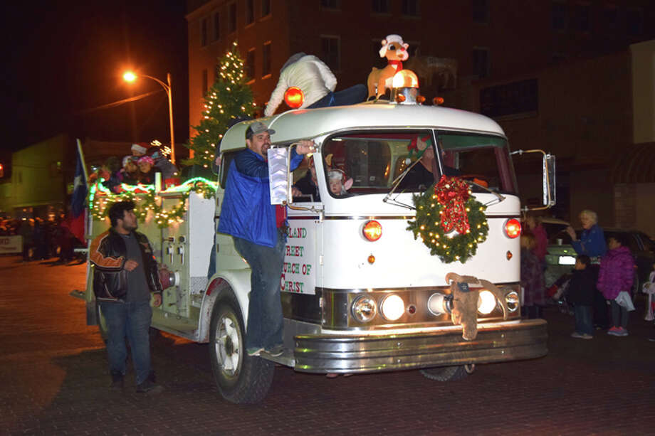 winning the plainview christmas parade of lights comet award for best decorated vehicle on thursday was