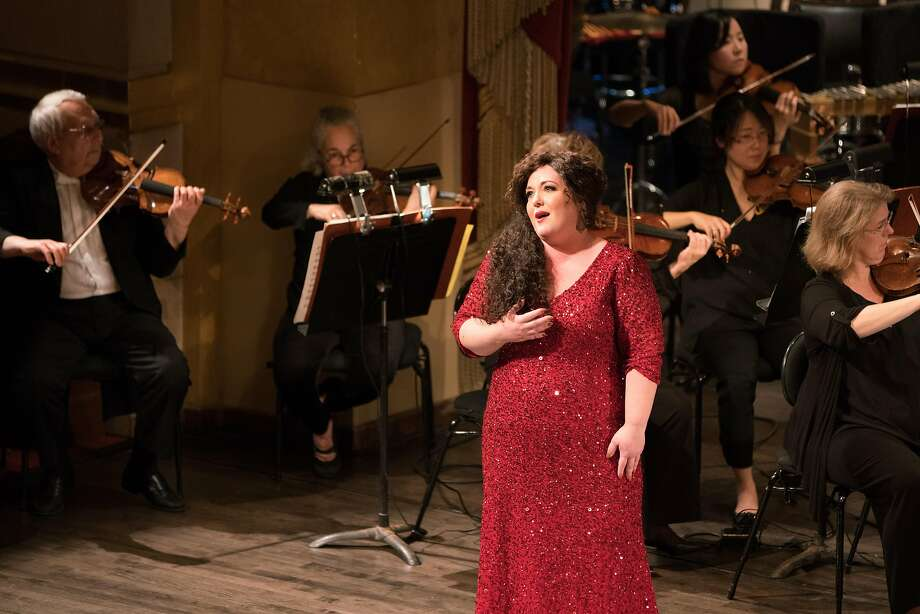 "Soprano Toni Marie Palmertree sings an aria from Verdi's ""Don Carlos"" at the Adler Fellows gala concert Photo: Kristen Loken"