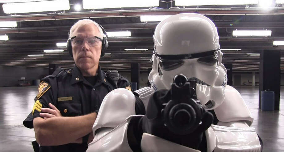 The Fort Worth Police Department was using the Force to try and recruit new police officers. Click through to see how this Stormtrooper did in his shooting range trial. Photo: Fort Worth Police Department