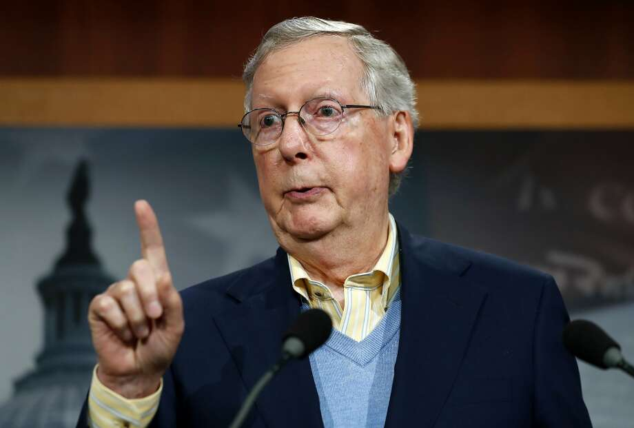 "Senate Majority Leader Mitch McConnell, R-Ky., says repealing and replacing President Obama's health care law ""has to be done in a phased-in way."" Photo: Alex Brandon, Associated Press"