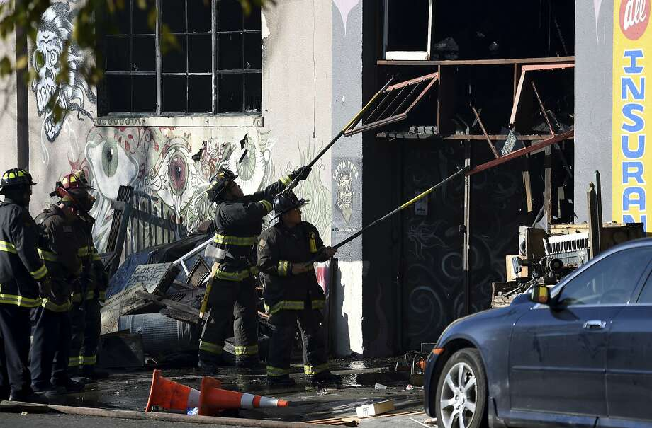 Image result for oakland california fire warehouse wall