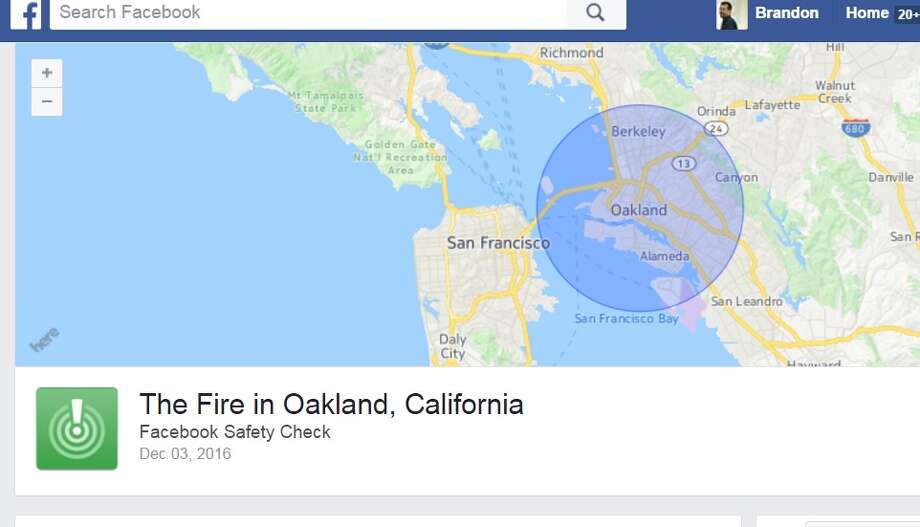 Facebook Safety Check activated for Oakland Inferno that killed 9, and left 25 missing