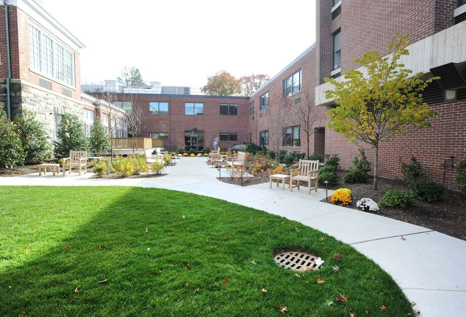 The new garden that is enclosed in a courtyard at the Nathaniel Witherell Nursing Home in Greenwich, Conn., Thursday, Nov. 10, 2016. Photo: Bob Luckey Jr. / Hearst Connecticut Media / Greenwich Time