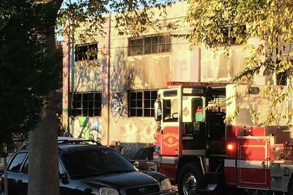 Personal photos taken by Frank Somerville of Oakland's Ghost Ship fire aftermath.