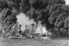 (KRT3) KRT US NEWS STORY SLUGGED: ATTACKS-HISTORY KRT PHOTOGRAPH COURTESY OF THE NATIONAL ARCHIVES/KRT (November 7) Naval photograph documenting the Japanese attack on Pearl Harbor, Hawaii which initiated US participation in World War II. The Battleships USS WEST VIRGINIA and USS TENNESSEE are seen after the Japanese attack on Pearl Harbor on Dec. 7, 1941. (KRT) (B&W ONLY) AP NC KD BL 2001 (Horiz.) (kn) (Additional photo available on KRT Direct, KRT/Newscom or upon request)