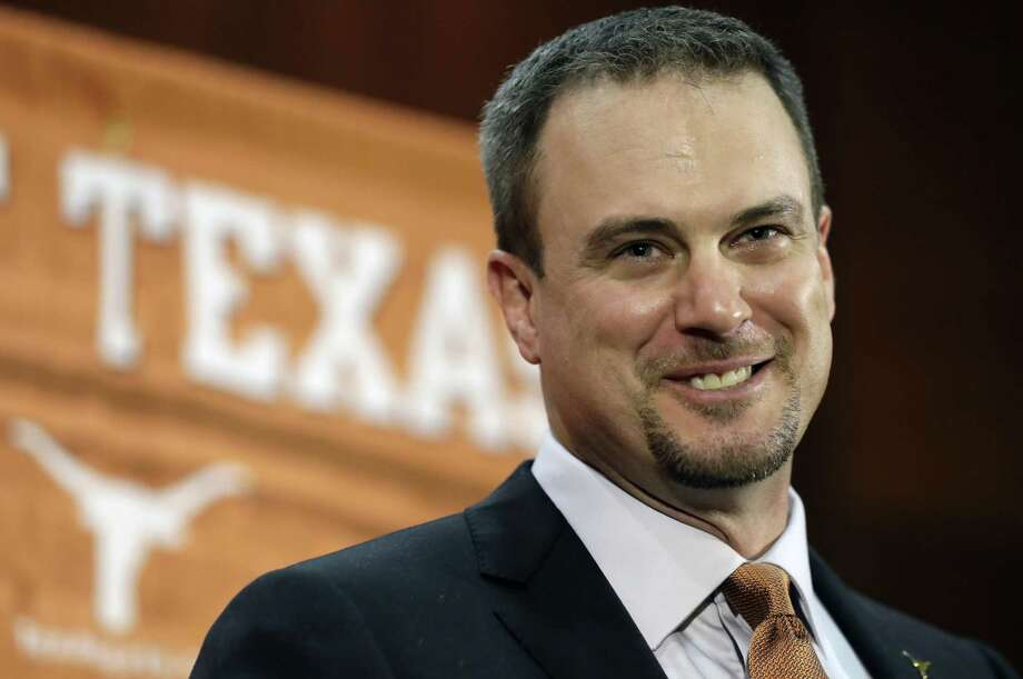 Tom Herman talks to the media during a news conference where he was introduced as Texas' new head NCAA college football coach, Sunday, Nov. 27, 2016, in Austin. (AP Photo/Eric Gay) Photo: Eric Gay, STF / Associated Press / Copyright 2016 The Associated Press. All rights reserved.