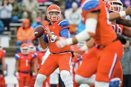 Sam Houston State quarterback Jeremiah Briscoe (15) attempts a pass in a NCAA Division I Football Championship Subdivision playoff football game at Bowers Stadium on Saturday, December 3, 2016, in Huntsville, Tx. (Joe Buvid / For the Houston Chronicle)