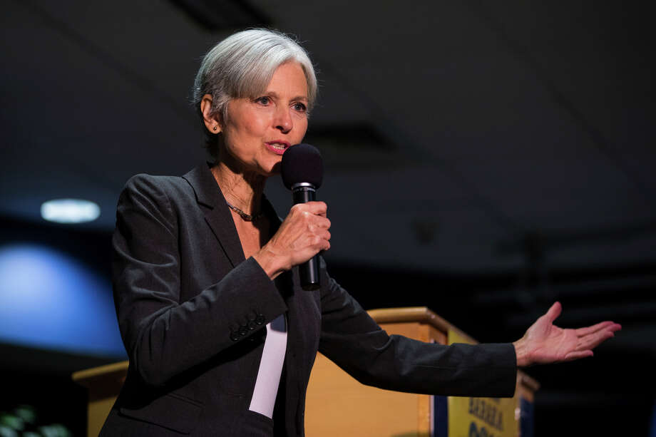 FILE - In this Sept. 21, 2016 file photo. Green Party presidential candidate Jill Stein delivers remarks at Wilkes University in Wilkes-Barre, Pa. Green Party-backed voters dropped a court case Saturday night, Dec. 3, 2016, that had sought to force a statewide recount of Pennsylvania's Nov. 8 presidential election, won by Republican Donald Trump, in what Green Party presidential candidate Stein had framed as an effort to explore whether voting machines and systems had been hacked and the election result manipulated. (Christopher Dolan/The Citizens' Voice via AP, File) Photo: Christopher Dolan, MBI / The Citizens' Voice