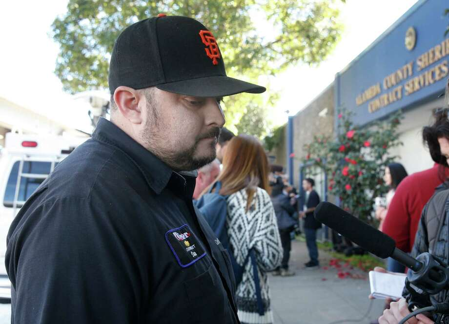 Daniel Vega waits to hear any word about his 22-year-old younger brother, Alex, and his girlfriend at an Alameda County Sheriff's office. Photo: Paul Chinn, Staff / ONLINE_YES