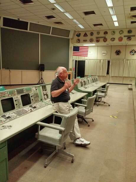 """Retired flight controller Ed Fendell wants visitors' access to Mission Control limited. """"We're trying to build a museum here. But if people are allowed to bring in guests who climb over the consoles ...  it'll just get ruined again."""" Photo: Sandra Tetley"""
