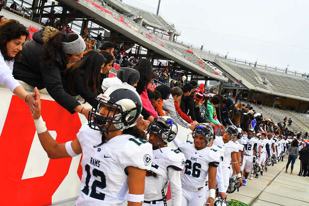 The Cy Ridge fans congratulate the Rams on the deepest playoff run in school history. The Rams fell 34-17 to Cinco Ranch Saturday at TDECU Stadium in the regional finals, eclipsing the third-round finishes the school posted in 2007 and 2008.