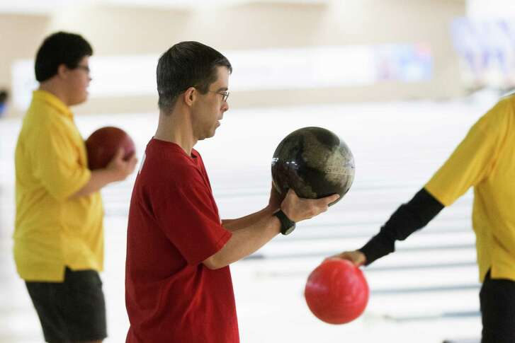 Bowlers participate in the Special Olympics 2016 Houston Area Bowling Tournament on Saturday at Copperfield Bowl in Houston. Competitors are aiming to qualify for the statewide competition, which will be held in Austin.