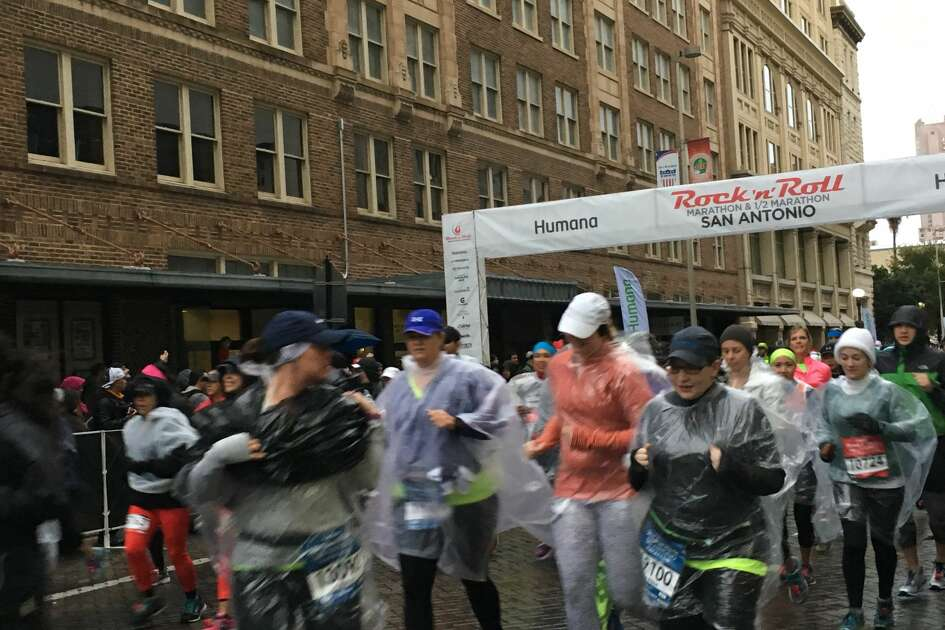 Runners and spectators for the annual San Antonio Rock 'N' Roll Marathon gathered downtown as the race began Sunday, Dec. 4, 2016.