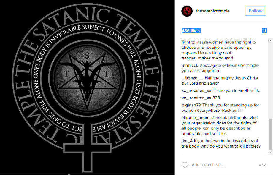 The Satanic Temple slammed new Texas fetal disposal regulations. Photo: The Satanic Temple
