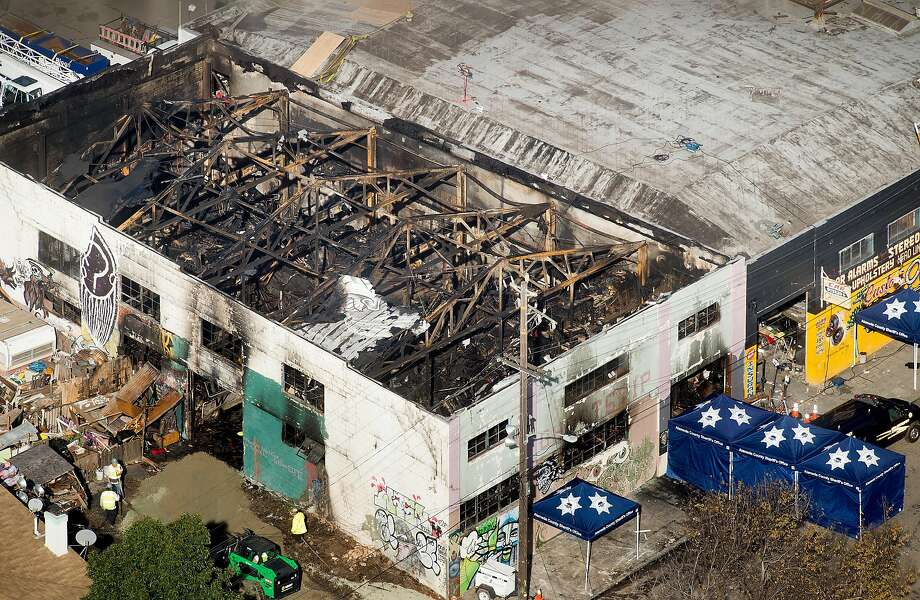 The Ghost Ship warehouse, site of a fire that killed at least 30 people, is pictured on Sunday, Dec. 4, 2016, in Oakland, Calif. Photo: Noah Berger / Special To The Chronicle