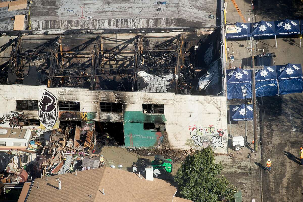 The Ghost Ship warehouse is pictured on Sunday, Dec. 4, 2016, in Oakland.