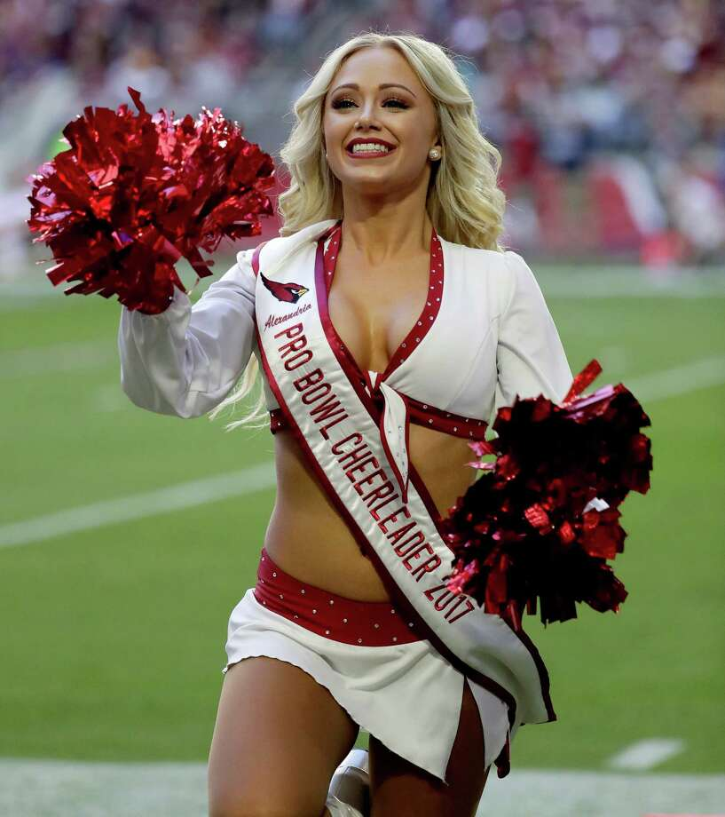 The Arizona Cardinals cheerleaders perform during the first half of an NFL football game against the Washington Redskins, Sunday, Dec. 4, 2016, in Glendale, Ariz. (AP Photo/Rick Scuteri) Photo: Rick Scuteri, Associated Press / FR157181