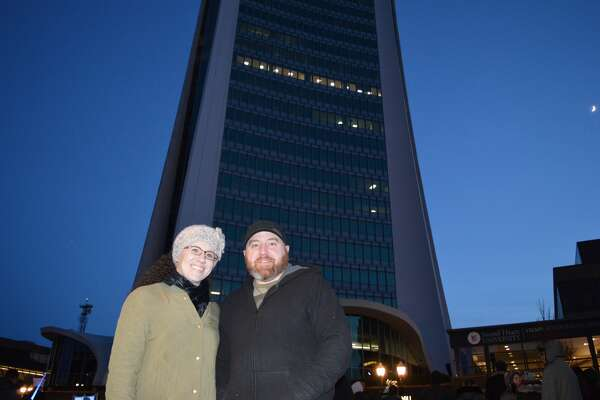 The annual Heights and Lights holiday celebration as held in downtown Stamford on December 4, 2016. Onlookers watched as Santa Claus, Rudolph, the Grinch and Brian Cashman, GM of the New York Yankees repelled from the top of one of Stamford's tallest buildings. Were you SEEN?