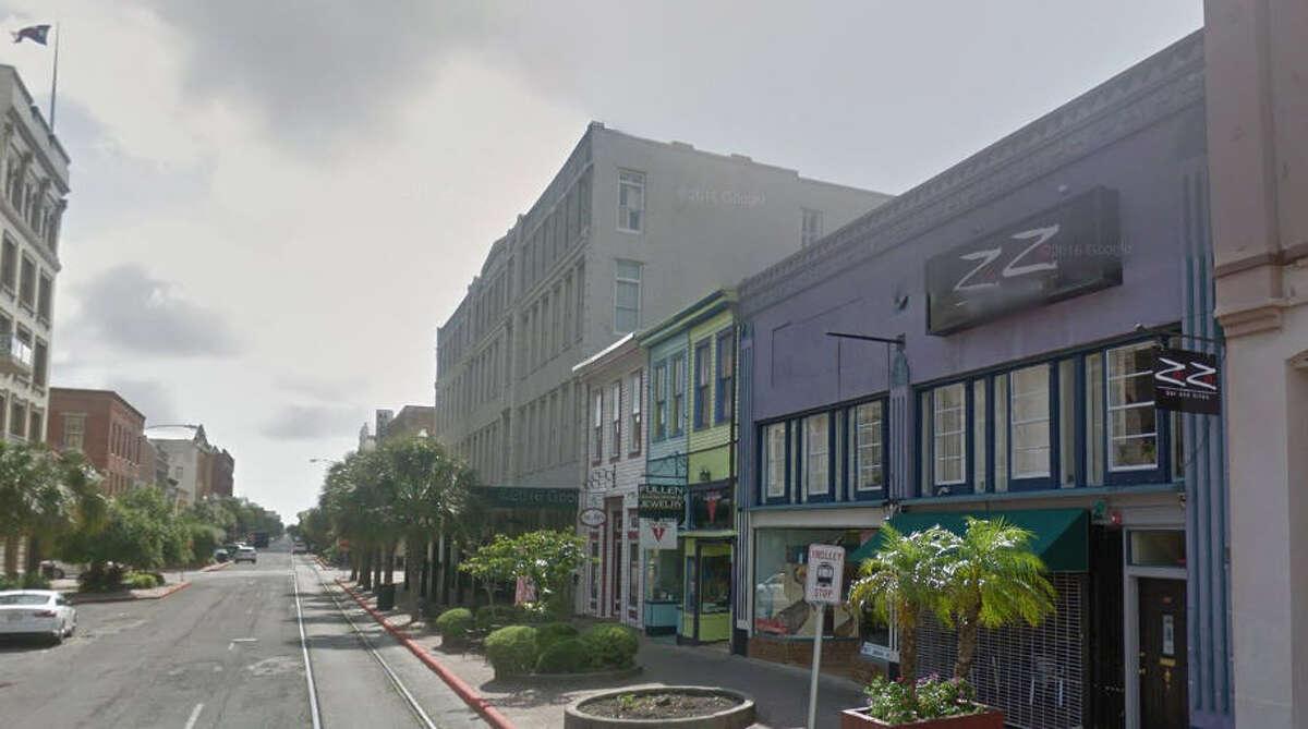 A Google Maps Street View of ZaZa Bar & Bites in Galveston.