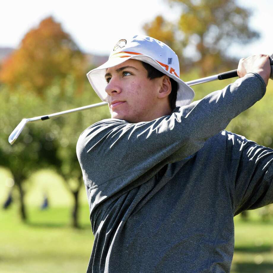 Austin Fox of Bethlehem High during the Section II golf state qualifier at Orchard Creek Golf Club Saturday Oct. 15, 2016 in Altamont, NY.  (John Carl D'Annibale / Times Union) Photo: John Carl D'Annibale / 20038363A