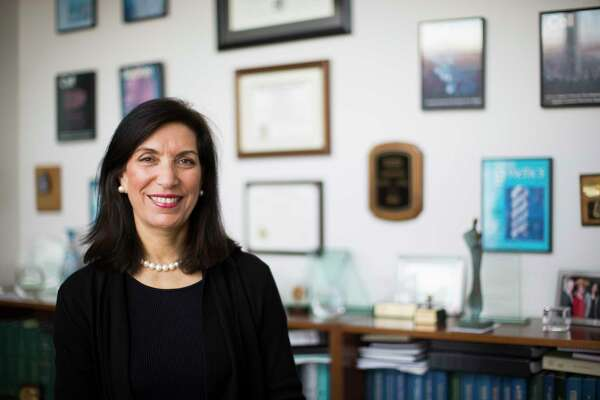 Dr. Huda Y. Zoghbi, a professor in the Departments of Pediatrics, Molecular and Human Genetics, Neurology and Neuroscience at Baylor College of Medicine sits on her office, Friday, Nov. 25, 2016, in Houston. ( Marie D. De Jesus / Houston Chronicle )