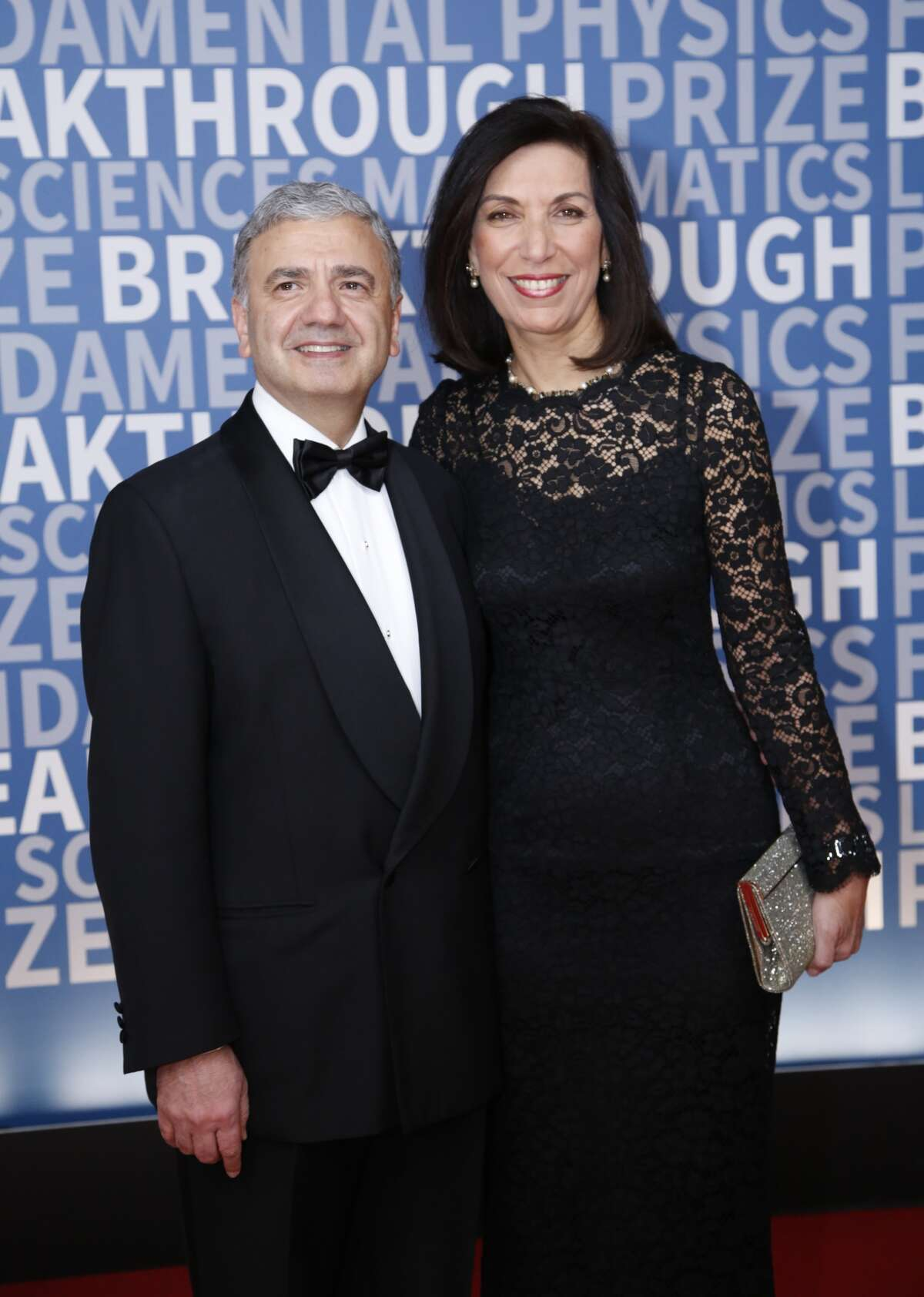 Breakthrough Prize in Life Sciences Laureate Huda Zoghbi (right) and William Zoghbi (left) attend the 2017 Breakthrough Prize at NASA Ames Research Center on December 4, 2016 in Mountain View, California.
