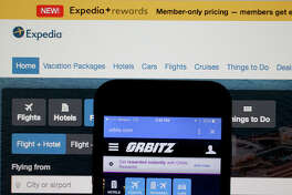MIAMI, FL - FEBRUARY 12:  In this photo illustration, the website for Expedia Inc. and Orbitz Worldwide Inc. are seen next to each other on February 12, 2015 in Miami, Florida.  Expedia annouced plans to purchase Orbitz for about 1.34 billiion dollars.  (Photo Illustration by Joe Raedle/Getty Images)